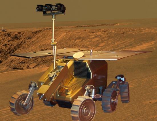 Vue d'artiste de  ExoMars rover