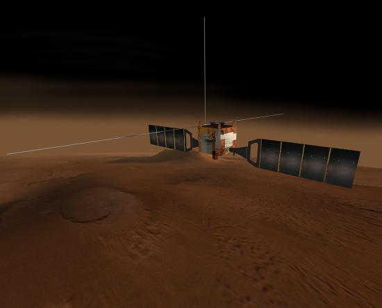 Vue d'artiste de la sonde Mars Express