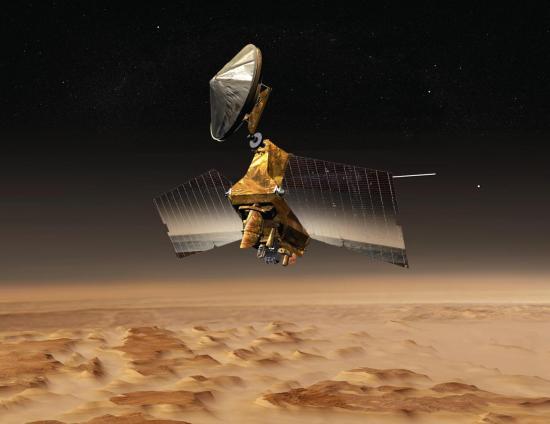 Vue d'artiste de la sonde Mars Reconnaissance Orbiter