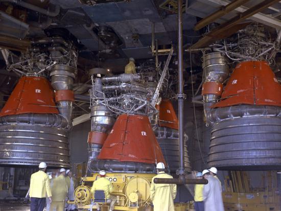 Les moteurs F-1 du lanceur Saturn V
